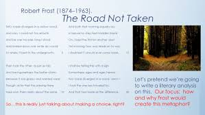 the road not taken essay modern science essay the wonders of  robert frost the road not taken essay poem analysis essay on the road not taken slideshare