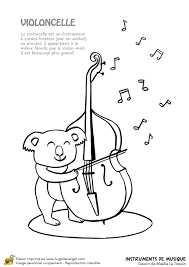 Dessin Colorier Instrument De Musique Typique Le Violoncelle