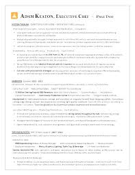 Executive Chef Resume Template Beauteous Chef Resume Template Elegant Resume Format For Chef Unique Executive