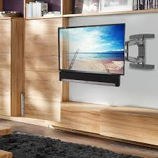 lithe audio full motion corner tv wall mount for tvs up to 70in