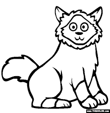 birman animal coloring pages
