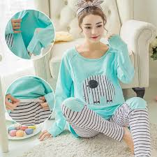 summer <b>breastfeeding pajamas breast feeding</b> nightwear maternity ...