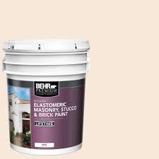 Behr Premium 5 Gal Elastomeric Masonry Stucco And Brick Exterior Paint