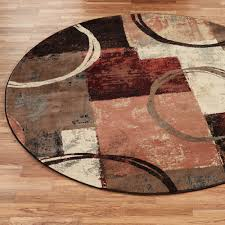 round brown contemporary rugs