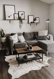 Wohnkultur Wohnzimmer Wohnung Dekoration Kleiner Raum Graues