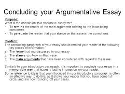An Example Of An Argumentative Essay Conclusion Paragraph Example Argumentative E An Example Of A