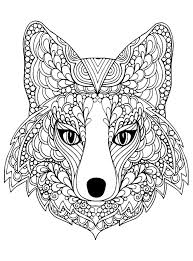 Hard Animal Coloring Pages Awesome Page Beutiful Fox Head Free To