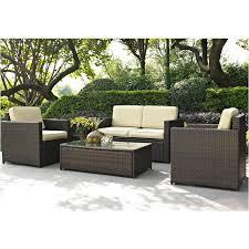 Mercury Row Belton 4 Piece Rattan Deep Seating Group with Cushions