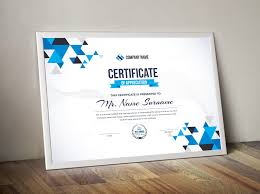 Professional Certificates Templates Triangle Elegant Professional Certificate Template 000857 Template