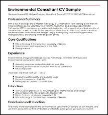 Consultant Cv Environmental Consultant Cv Sample Myperfectcv