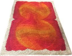 vintage modernist multi color high pile rya rug for desso 1970s previous next