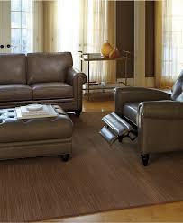 Martha Stewart Living Room Furniture Martha Stewart Collection Bradyn Leather Sofa Beige Color Three