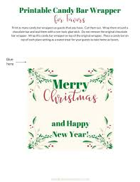 Step by step tutorial on how to use ms word to create custom candy bar wrapper for to fit any theme of any, anniversary, birthday, wedding, shower or party. Christmas Candy Bar Wrappers Free Printables