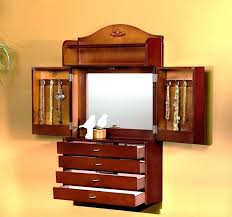 Wall Mounted Jewelry Cabinet Cabinets S  With Mirror Jewellery Wall Mounted Jewelry Cabinet A7