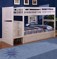 white bunk bed with stairs. Wonderful Stairs Discovery World Furniture White Staircase Bunk Bed TwinTwin Stair  Stepper With 3 With Stairs U