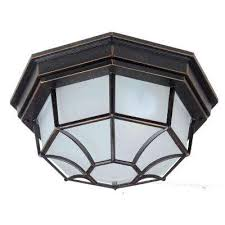 megan 1 light oil rubbed bronze outdoor flushmount
