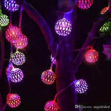 New Morocco Ball Solar LED Strings Outdoor Holiday Lighting LED
