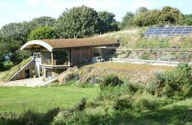 The Sedum House, in Gimingham, North Norfolk, UK, incorporates green  technology in the form of ground source heat pumps, photovoltaic panels and  a ...