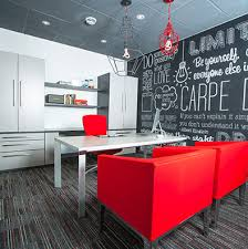 atwork office interiors. modern office interior with red chairs atwork interiors 3