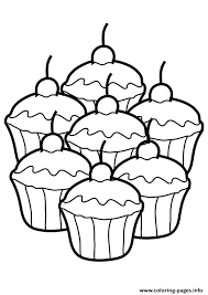 Small Picture The way too many cupcakes Coloring pages Printable