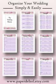 Printable Wedding Planner Wedding Planner Book Pdf Printable Wedding Planner