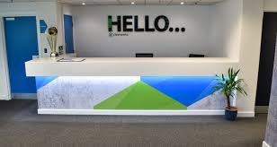 office makeover. exellent makeover clements reception desk office makeover  and