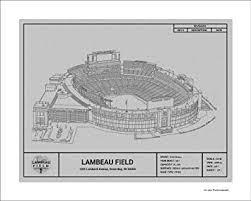Green Bay Packers Lambeau Field Blueprint Art Gift
