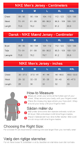 Size Chart For Jerseys Football