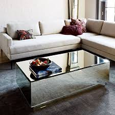 geo modern mirrored coffee table