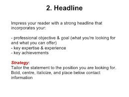 Good Resume Headlines Examples Resume Headline Examples