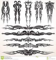 маорийские племенные элементы дизайна татуировки иллюстрация вектора