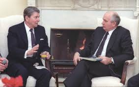 ronald reagan oval office. President Reagan And Soviet General Secretary Gorbachev Having Their First Meeting In The Oval Office At White House. (Ronald Presidential Ronald A