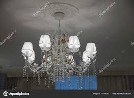 beautiful bronze chandelier lighted plafonds chandelier ceiling chandelier chain white stock photo