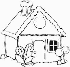 Christmas Gingerbread House Coloring Page Netart