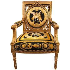 Custom Versace Louis XVI Style Armchair Vintage, 1980s For Sale