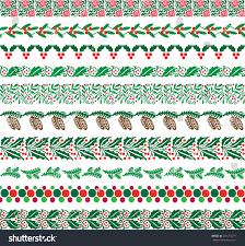Border Patterns Custom Christmas Border Patterns Stock Vector Royalty Free 48