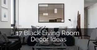 17 black living room decor ideas