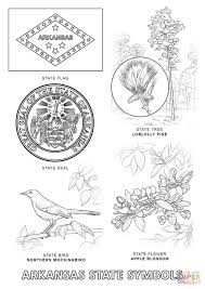 Small Picture Arkansas State Symbols coloring page Free Printable Coloring Pages