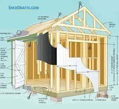 16 gable garden shed plans blueprints