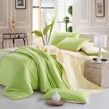 plain solid color cotton bedding sets luxury soft warm duvet cover bed sheet sets king queen twin size birthday gifts apple green grey twin