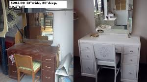 vintage shabby chic inspired office. Vintage Vanity Painted Very Pale Blue With Attached Mirror Shabby Chic Inspired Office .