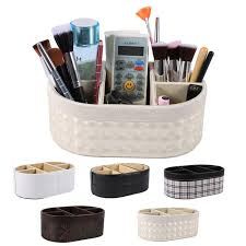 home office storage boxes. PU Leather Desktop Storage Basket Sundries Box Makeup Organizer Cosmetic Home Office Boxes N