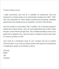 Resume Letter Of Recommendation Also Employment Recommendation