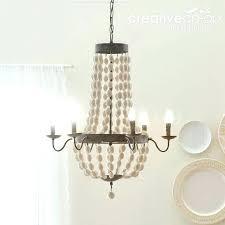 creative co op lighting creative co op chandelier co op lighting distressed white wood beads chandelier creative co op