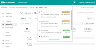 See every task in progress - Customer.io