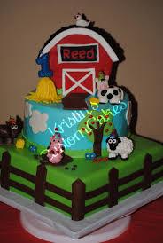 Barnyard Bash 1st Birthday Cake Cakecentralcom