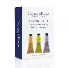 crabtree evelyn travel hand trio 3 x 25g hand therapy gift set