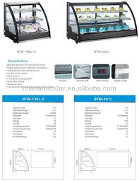 compact design cake display fridge curved glass refrigerator