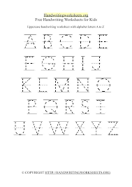 Free Handwriting Worksheets Alphabet Practice Writing For Printable ...