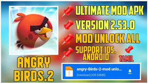HOW TO DOWNLOAD MOD ANGRY BIRDS 2 100% PROFF ULTIMATE COINS ALL//PRASANNA  MOD GAMER - YouTube